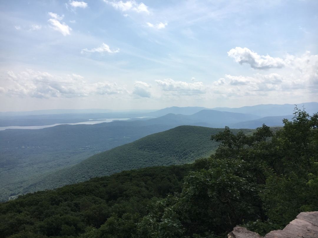 the view from the summit of Overlook Mountain in Woodstock, NY
