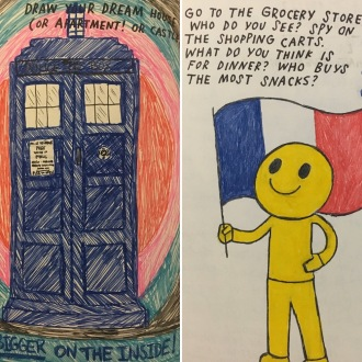 TARDIS and Butter Boy from my 1 Page at a Time journal
