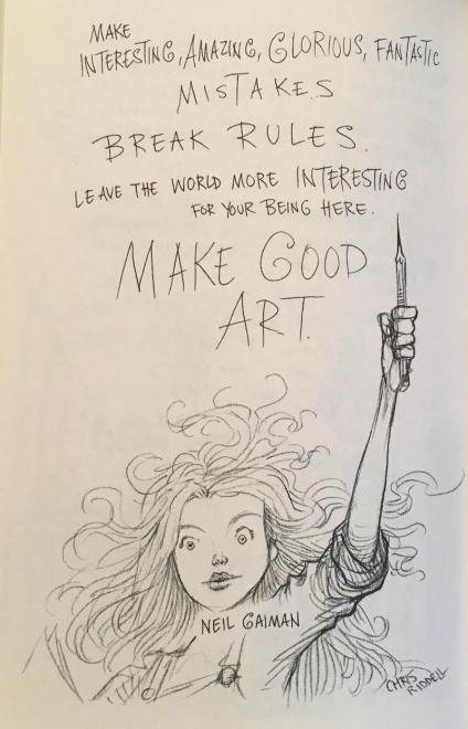 Words of wisdom from Neil Gaiman, illustrated by Chris Riddell