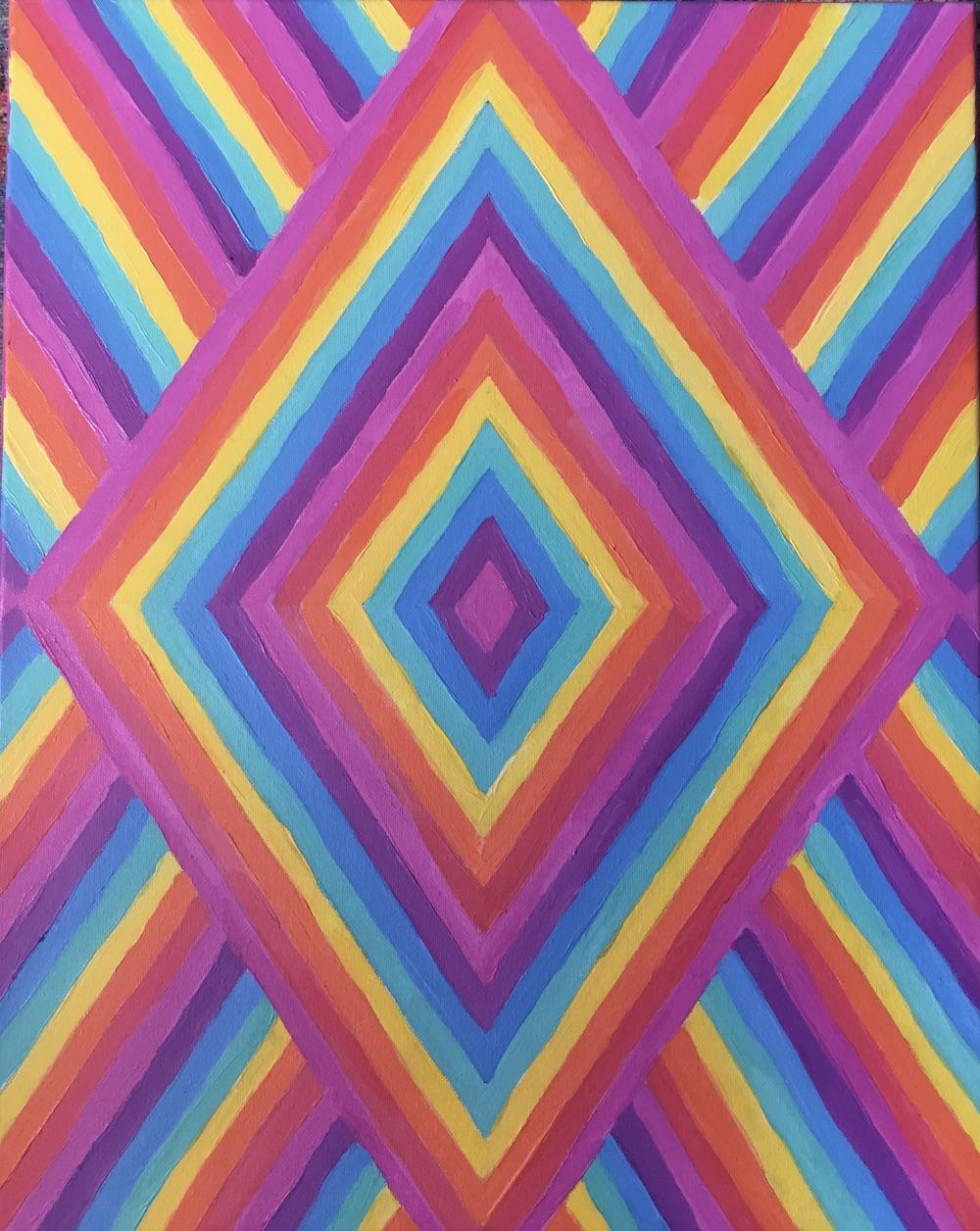 Rainbow vortex painting