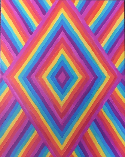 Rainbow vortex painting