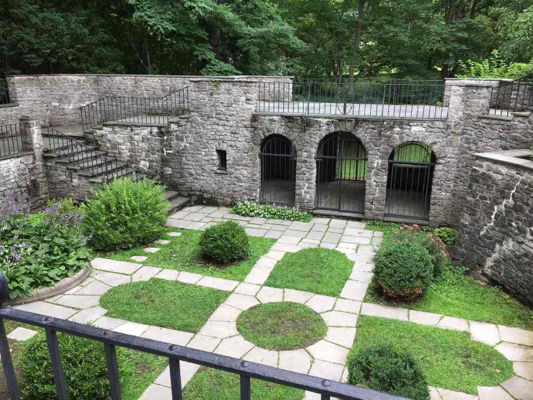 The sunken garden at Warner Castle in Rochester, NY